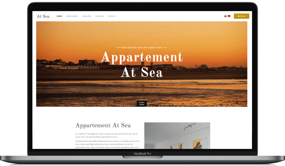 Website ontwikkeling - Appartement At Sea